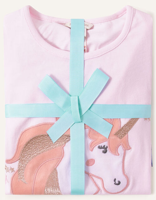 Nova Midnight Unicorn Pyjama Set, Blue (NAVY), large