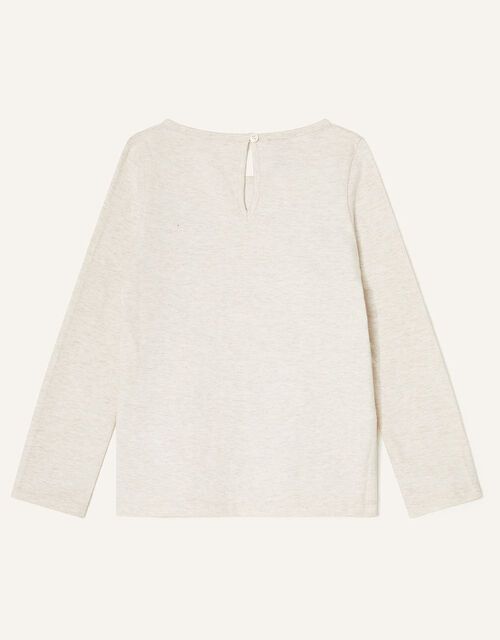 Sleigh Long Sleeve Top, Ivory (IVORY), large