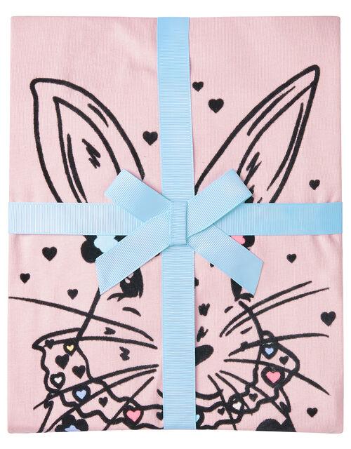 Bunny Pyjama Set in Cotton Jersey, Pink (PINK), large