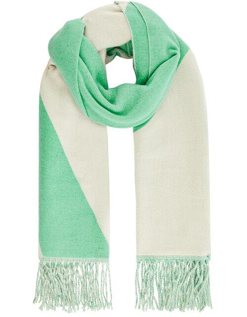 Colour-Block Blanket Scarf, , large