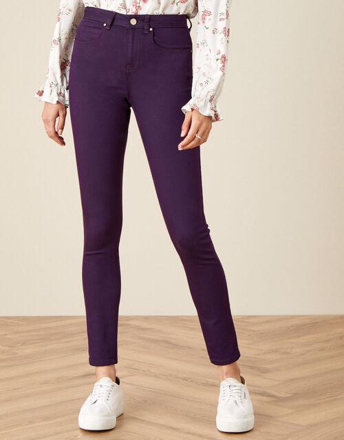 Nadine Regular-Length Skinny Jeans, Purple (PURPLE), large
