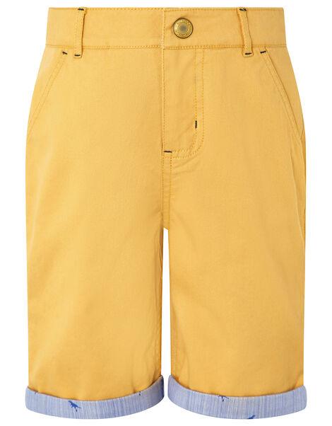 Marty Shorts Yellow, Yellow (MUSTARD), large