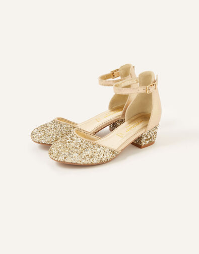Mix Glitter Two-Part Heels  Gold, Gold (GOLD), large
