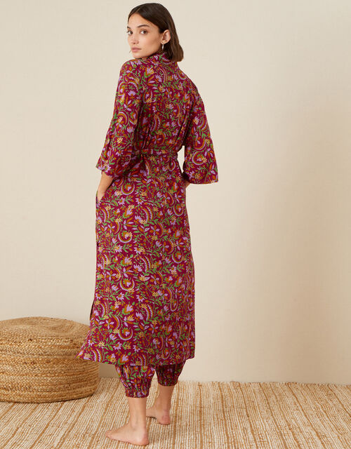 ARTISAN STUDIO Longline Robe, Red (BERRY), large