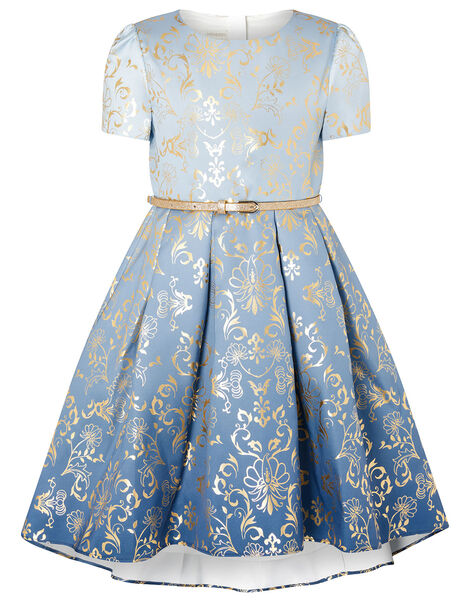 Ombre Foil Print Dress Blue, Blue (BLUE), large
