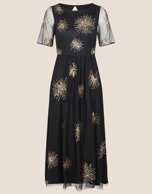 Edie Starburst Embellished Dress, Black (BLACK), large