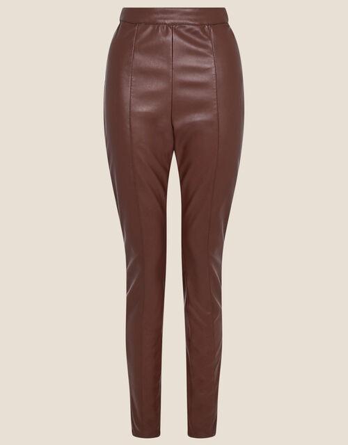 Payton PU Leggings, Brown (CHOCOLATE), large