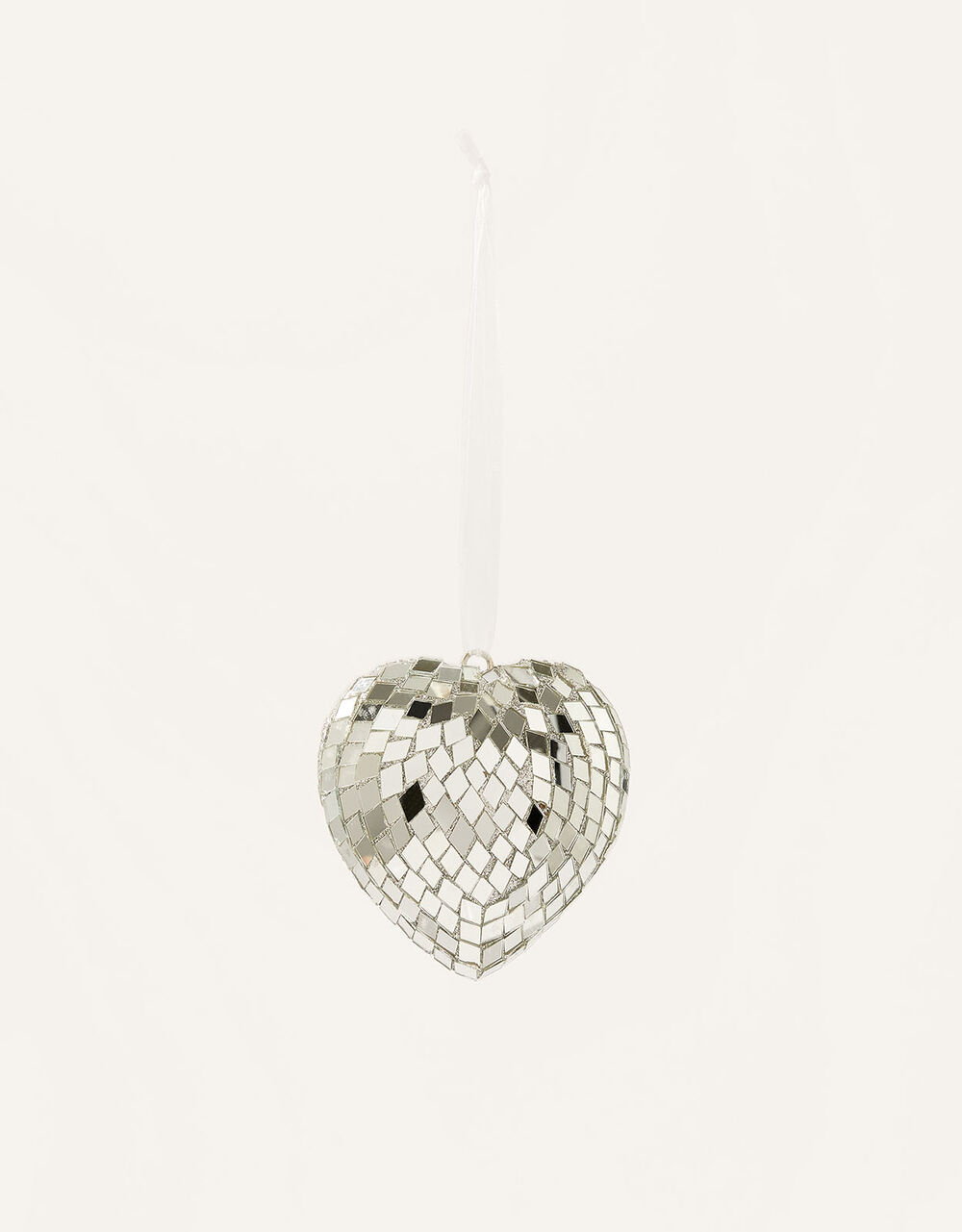 Mirrored Heart Hanging Decoration, , large