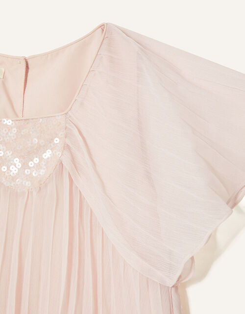 Pleated Chiffon Top, Pink (PALE PINK), large