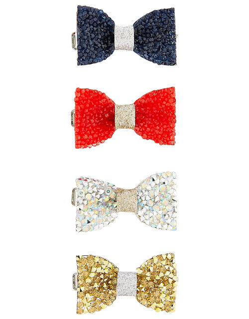 Dazzle Bow Hair Clip Set, , large