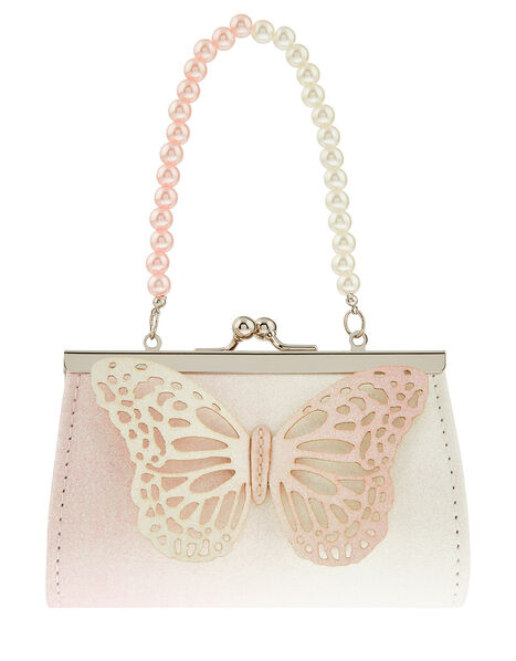 Glitter Butterfly Mini Bag, , large