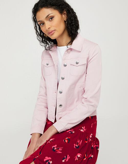 Elda Denim Jacket with Organic Cotton, Purple (LILAC), large