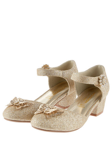 Butterfly Glitter Heels  Gold, Gold (GOLD), large