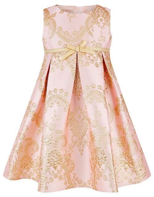 Baby Rebecca Jacquard Occasion Dress, Pink (PINK), large