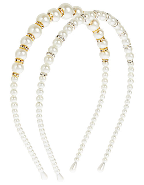 Pearly Sparkle Headband Set , , large