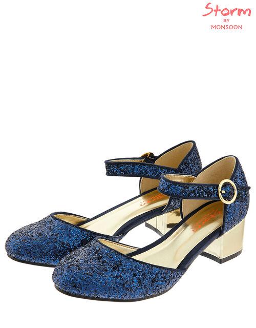 Samara Glitter Two-Part Shoes, Blue (NAVY), large