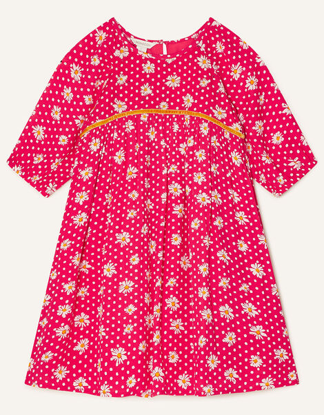 Daisy Spot Dress with LENZING™ ECOVERO™ Red, Red (RED), large