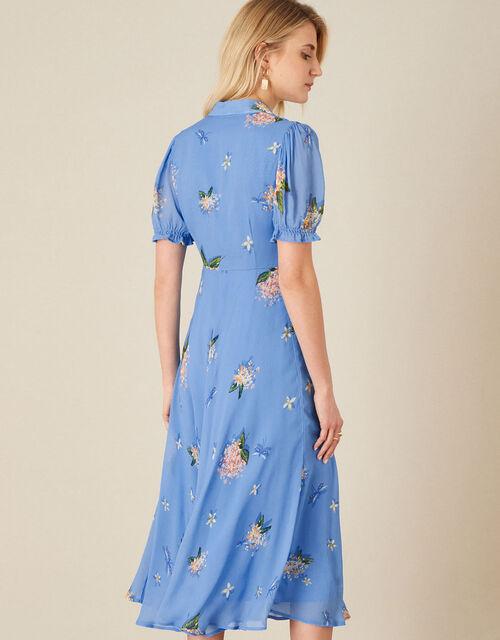Anastasia Floral Midi Dress, Blue (BLUE), large