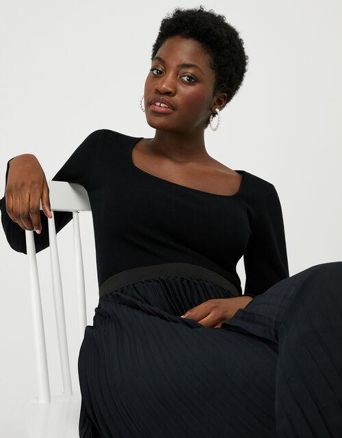 Serina Bishop Sleeve Jumper, Black (BLACK), large