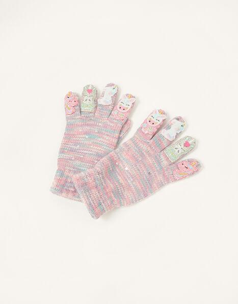 Rainbow Flower Unicorn Gloves Multi, Multi (MULTI), large