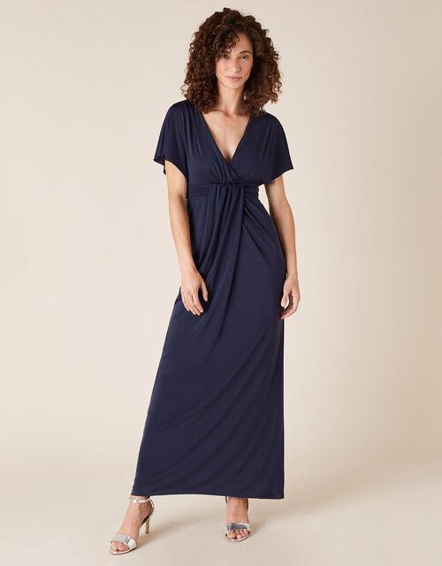 Jessica Slinky Jersey Maxi Dress, Blue (NAVY), large