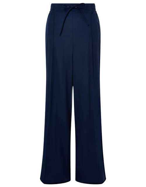 Wide-Leg Trousers, Blue (NAVY), large
