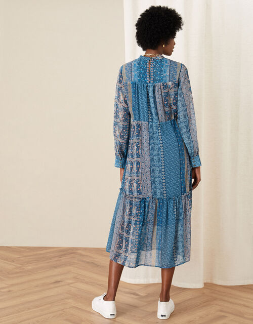 Paisley Print Midi Dress, Teal (TEAL), large