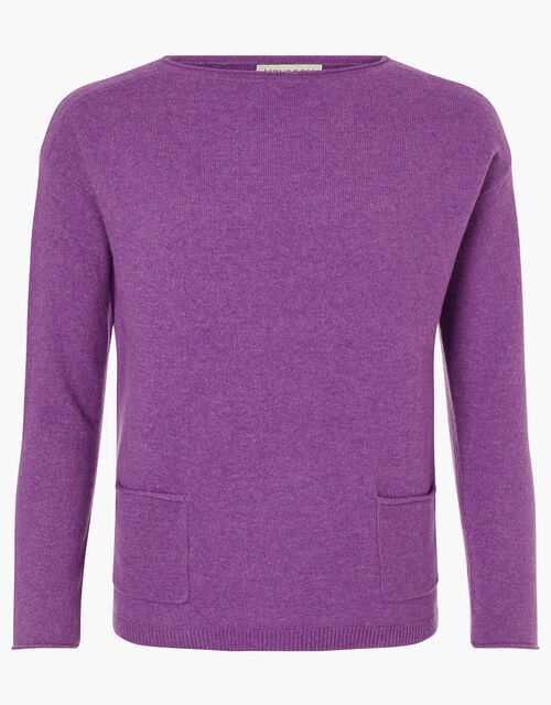 Pocket Detail Knit Jumper, Purple (PURPLE), large