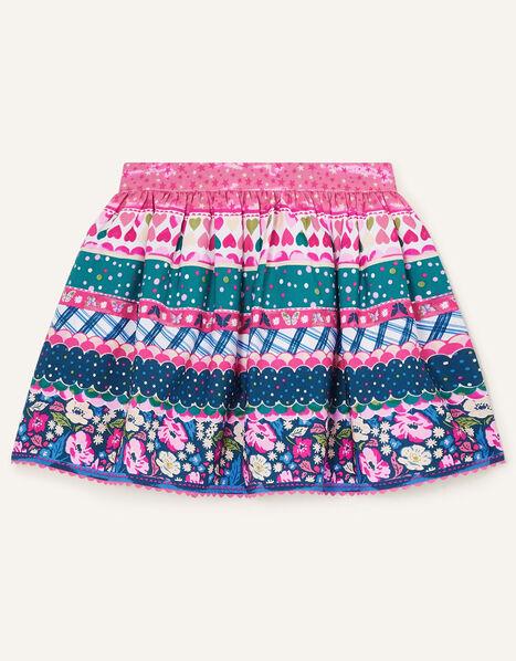Multi Print Skirt Teal, Teal (TEAL), large