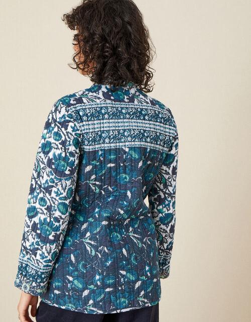 ARTISAN STUDIO Woodblock Print Jacket, Teal (TEAL), large