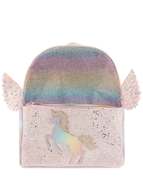 Rainbow Sparkle Unicorn Backpack, , large
