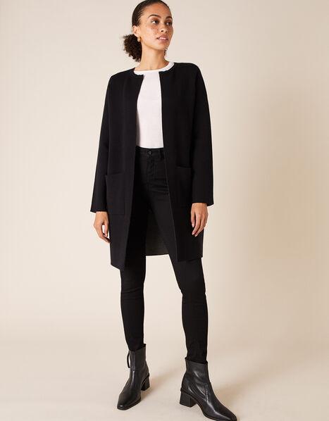 Double-Faced Coatigan Black, Black (BLACK), large