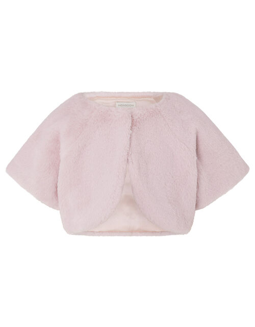 Faux Fur Shrug, Pink (PINK), large
