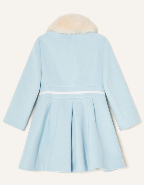 Fluffy Collar Bow Coat, Green (MINT), large
