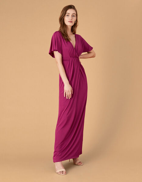 Jessica Slinky Jersey Maxi Dress Red, Red (BERRY), large