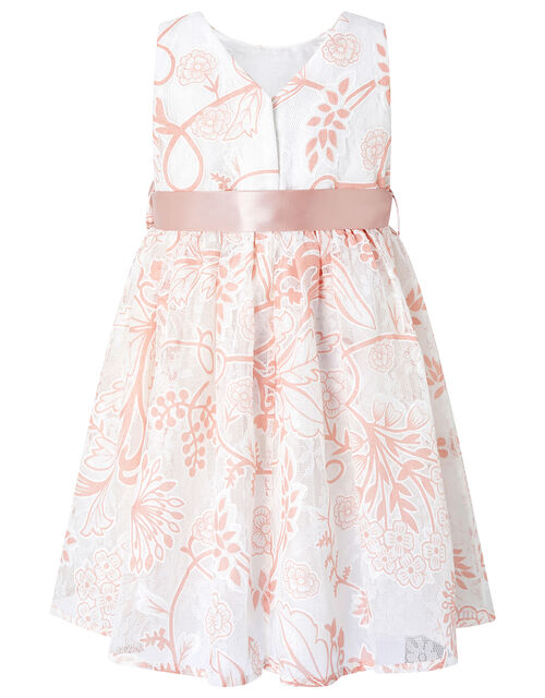 Baby Annie Printed Lace Dress, Ivory (IVORY), large