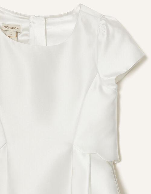 Duchess Twill Bridesmaid Dress, Ivory (IVORY), large