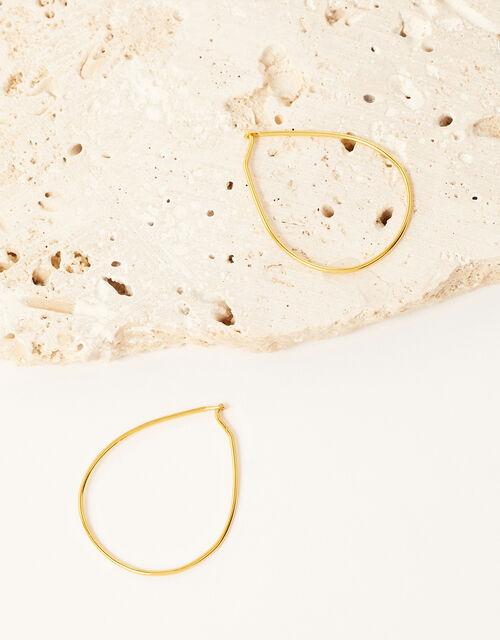 Gold-Plated Fine Hoop Earrings, , large