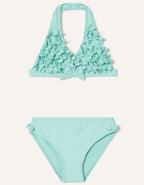 3D Flower Bikini Set Blue, Blue (TURQUOISE), large