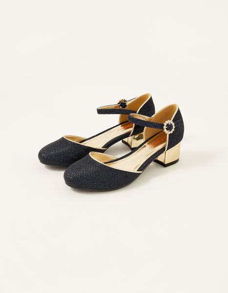 Shimmer Two-Part Heels Blue, Blue (NAVY), large