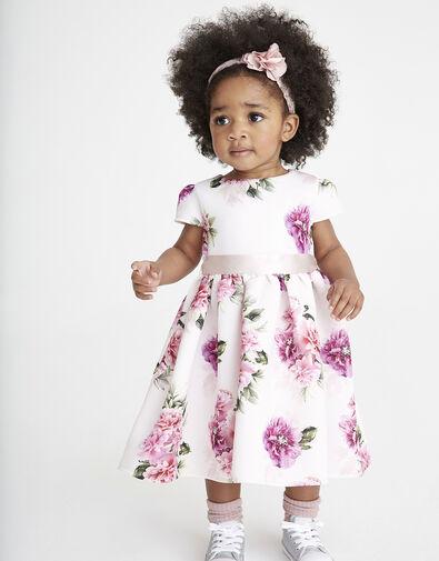 Baby Deena Floral Scuba Dress Pink, Pink (PINK), large