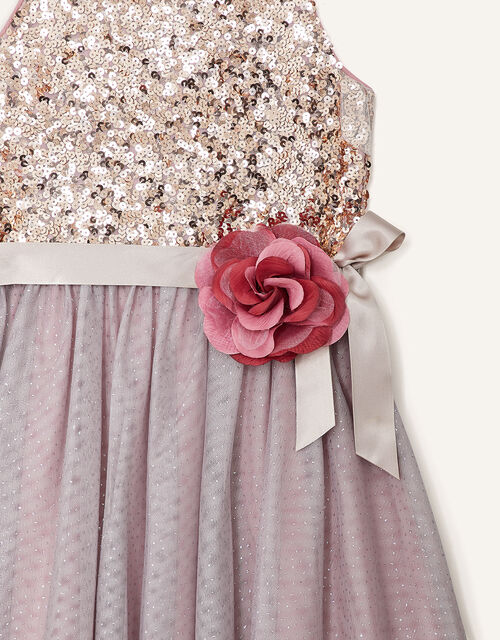 Truth Sequin Corsage Dress , Pink (DUSKY PINK), large