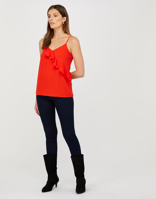 Bella Frill Cami Top, Red (RED), large