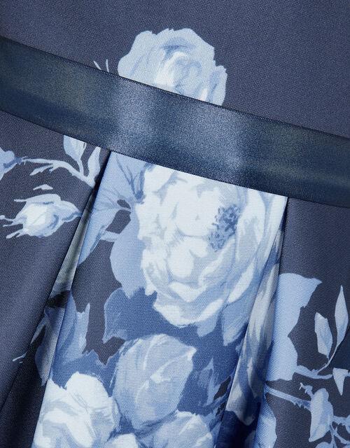 Floral Scuba Dress, Blue (NAVY), large