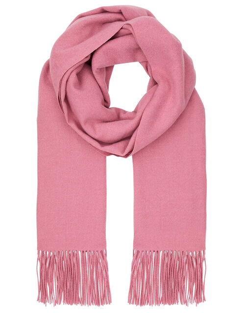 Super Soft Plain Knit Scarf, Pink (PINK), large
