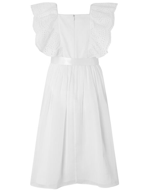 Amelia Sequin and Broderie Lace Dress, Ivory (IVORY), large