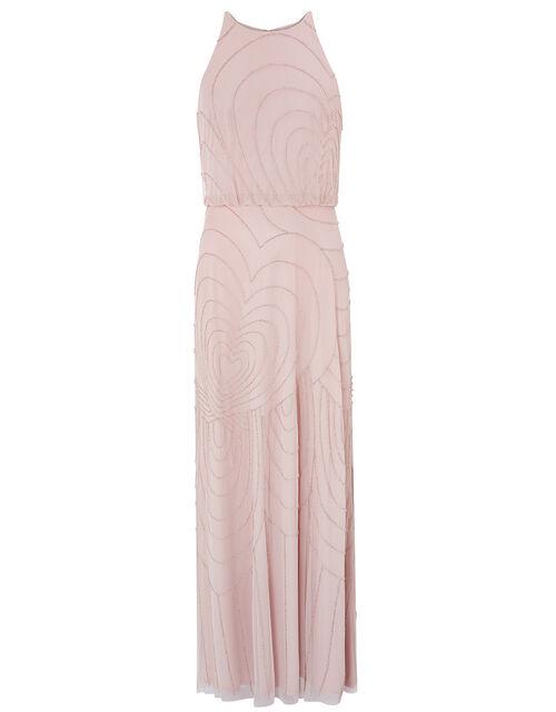 Britta Beaded Heart Maxi Dress, Pink (PINK), large