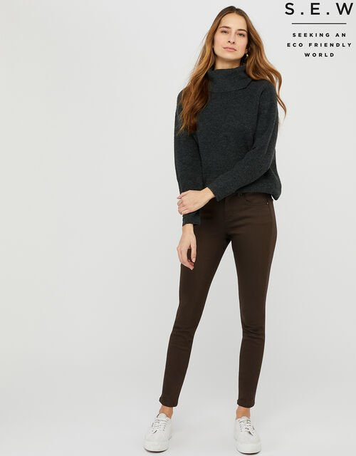 Nadine Jeans with Organic Cotton, Brown (CHOCOLATE), large