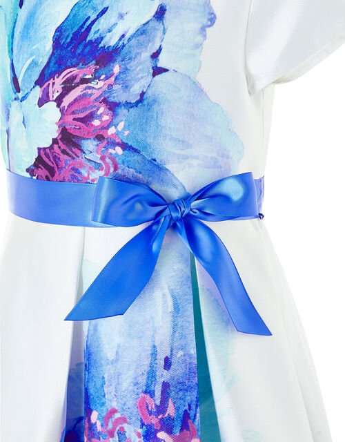Peony Bloom Print Dress, Ivory (IVORY), large