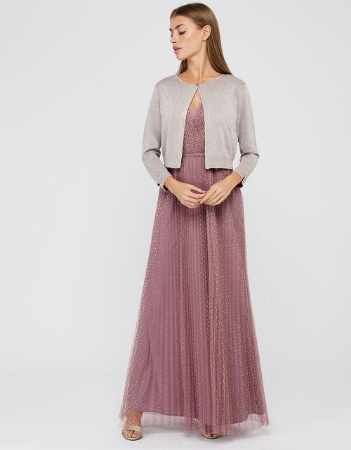 Elyse Metallic Shrug, Pink (BLUSH), large